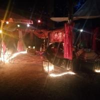 Unser Lager im Dunkeln.